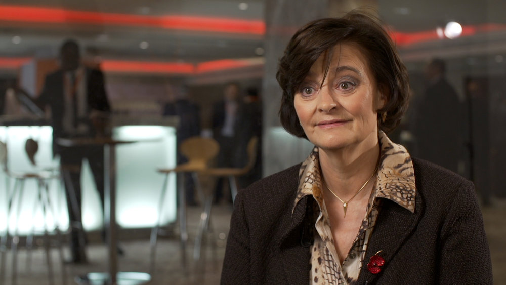 We talked to Cherie Blair about her work with micro-finance.