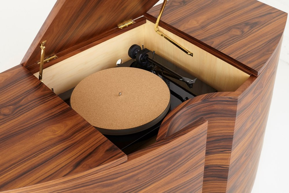 Rosewood Record Player Cabinet - Detail - Tricia Harris.jpg