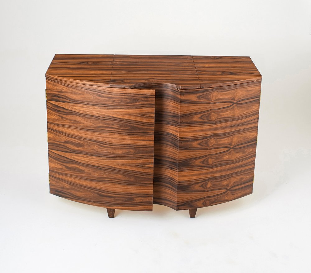 Rosewood Record Player Cabinet - Closed - Tricia Harris.jpg