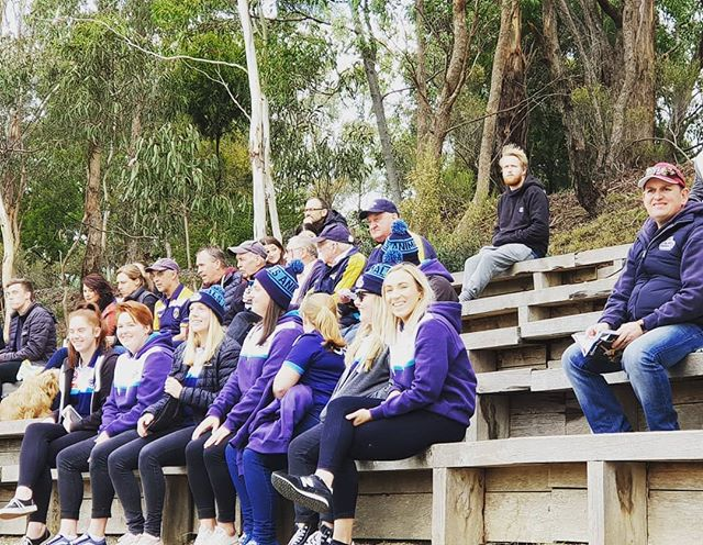 The women have come down to support the men before their clash against Yarra Valley later.  #WHIvESL #AnimalsFooty