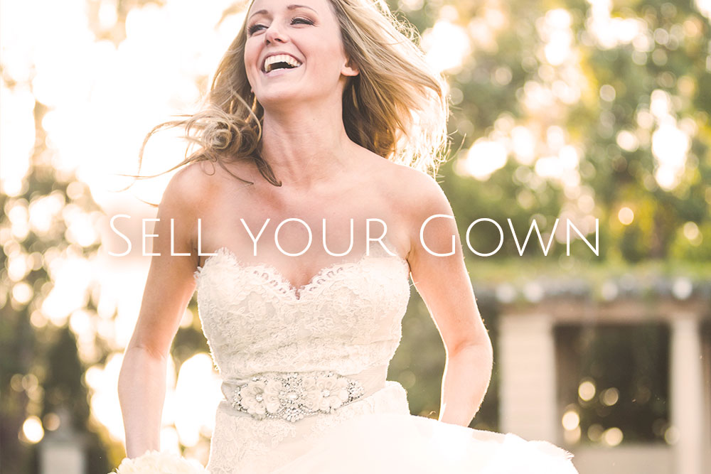 SELL your gown. We offer brides a dress sale service where you can leave your gown with us to retail in the boutique.