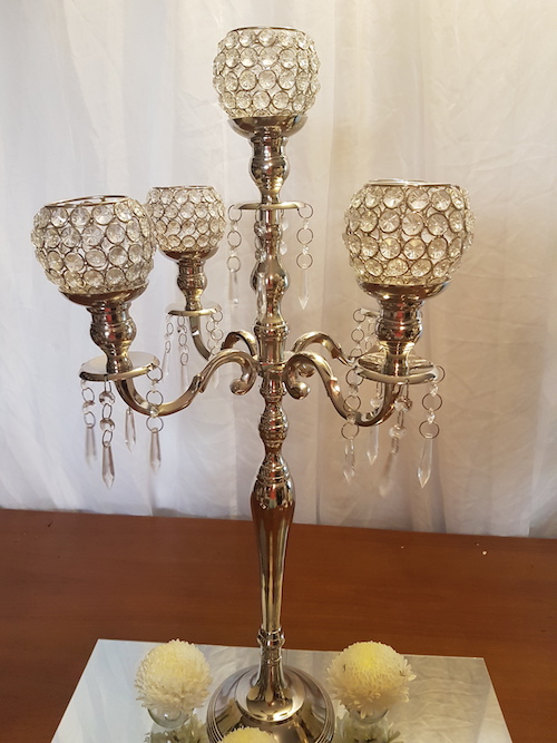 crystal votive candelabra
