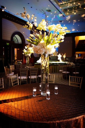 tall white floral centrepiece