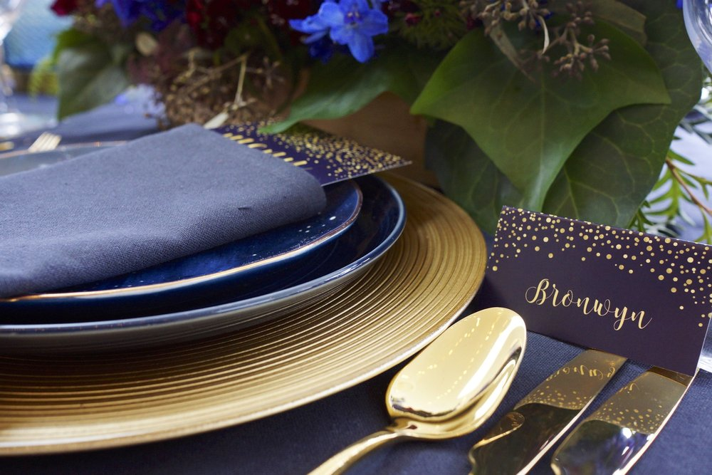 Gold-cutlery-hire-set