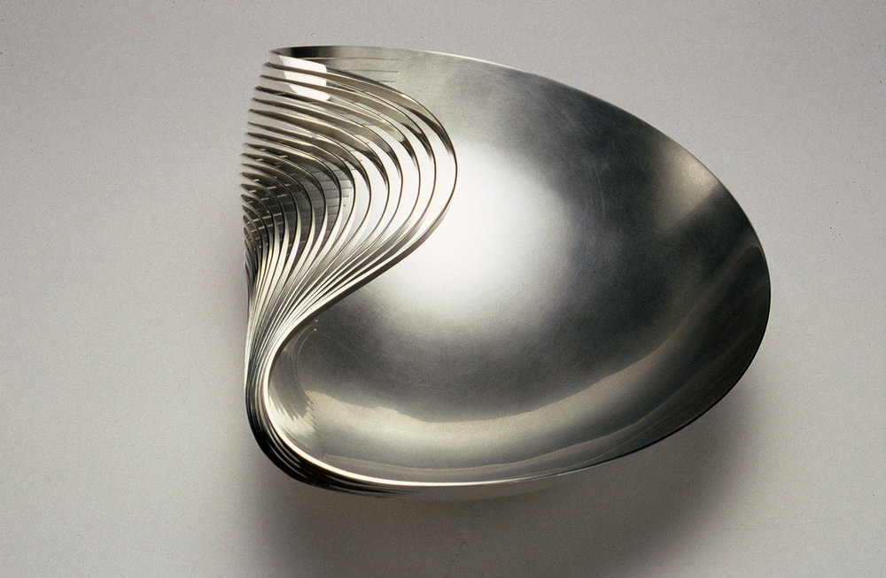 'Dented Bowl' in sterling silver