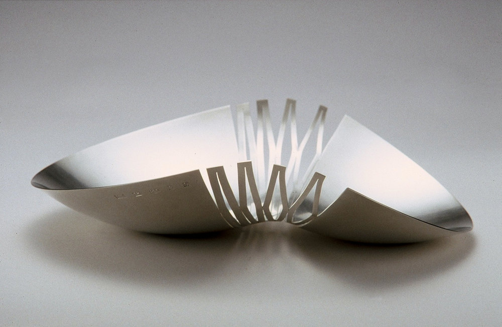 'Cracked Bowl' sterling silver