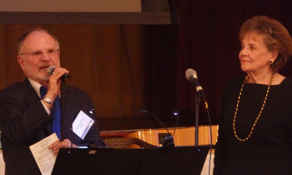Harris Sarney '57, MHSAA President presents award to Matilda Raffa Cuomo '49