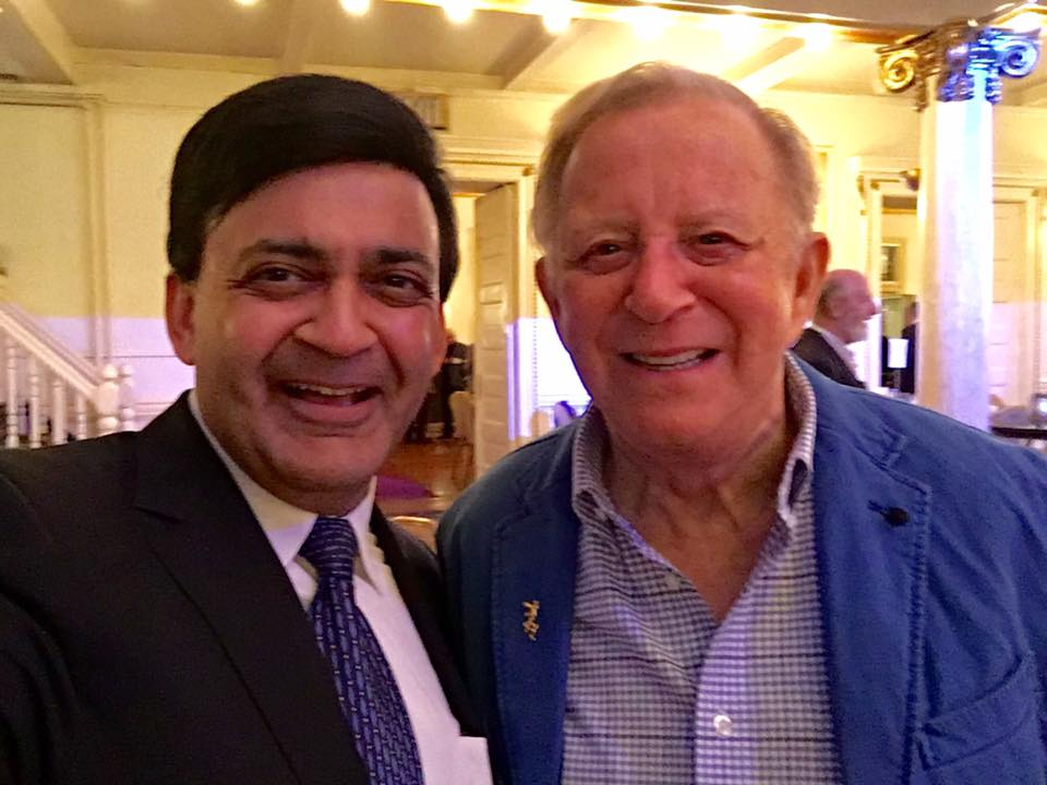 Humayun Chaudhry '82 & Eugene Krinsky, former social studies faculty