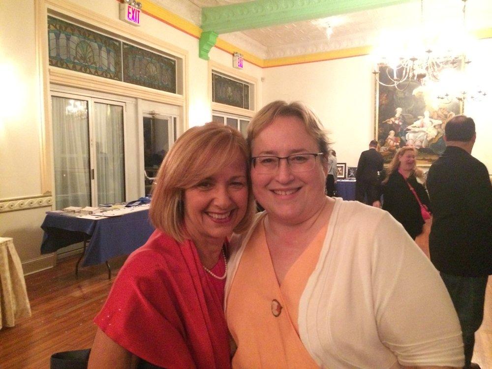 Janice Pumelia, former English AP, & Wendy Guida, English faculty