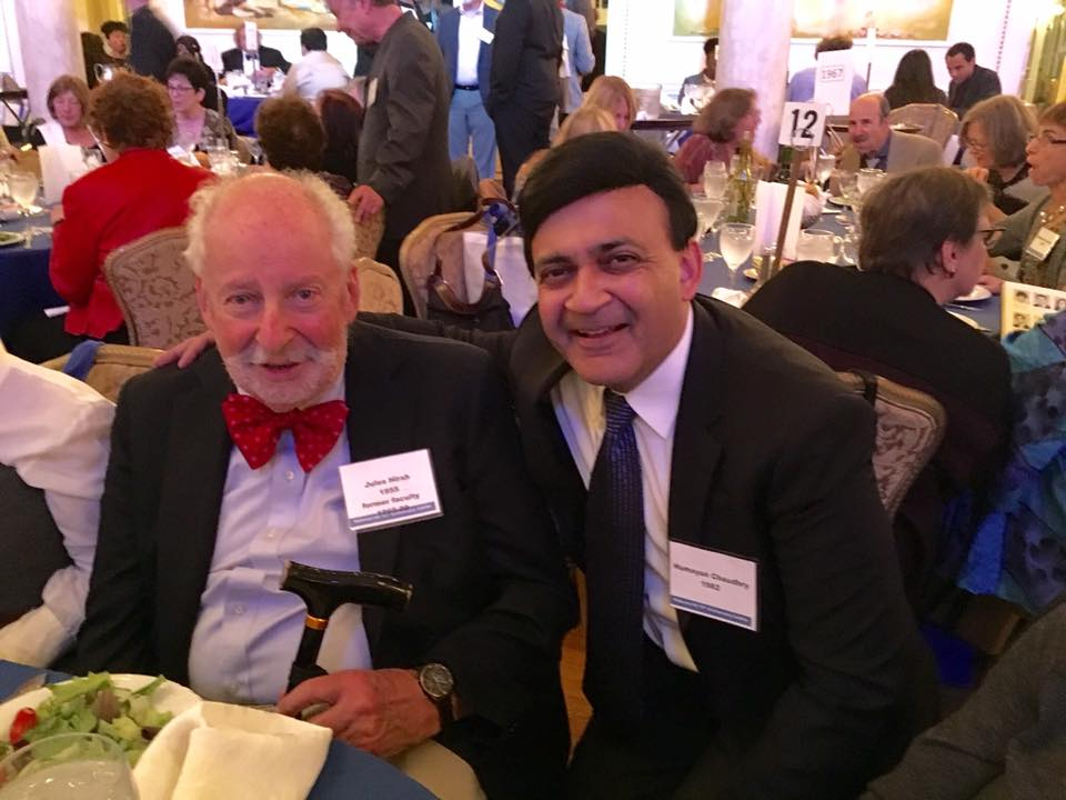 Jules Hirsh '51 and former music faculty, & Humayun Chaudhry '82