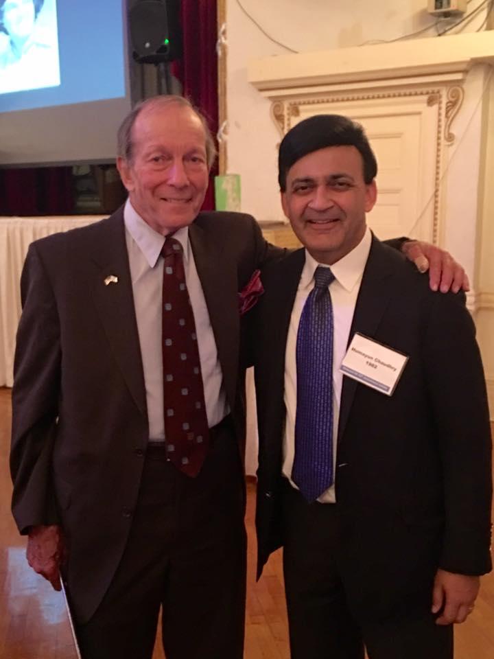 Mark Willner, former social studies AP, & Humayun Chaudhry '82
