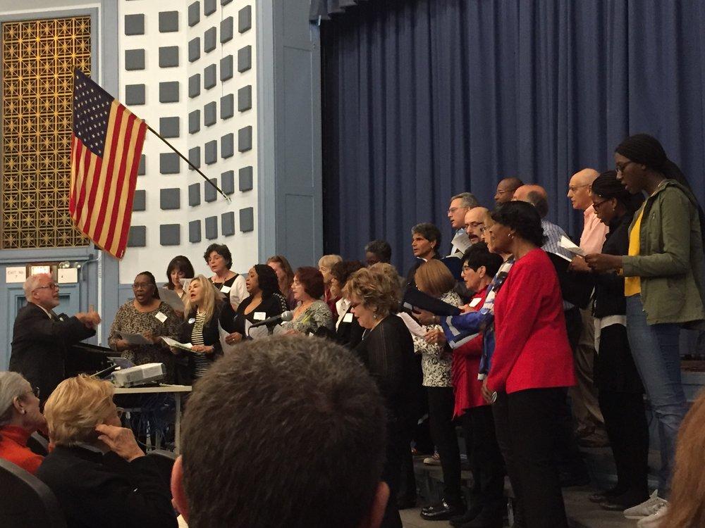 Midwood Alumni Chorus led by Rodney Sorenson
