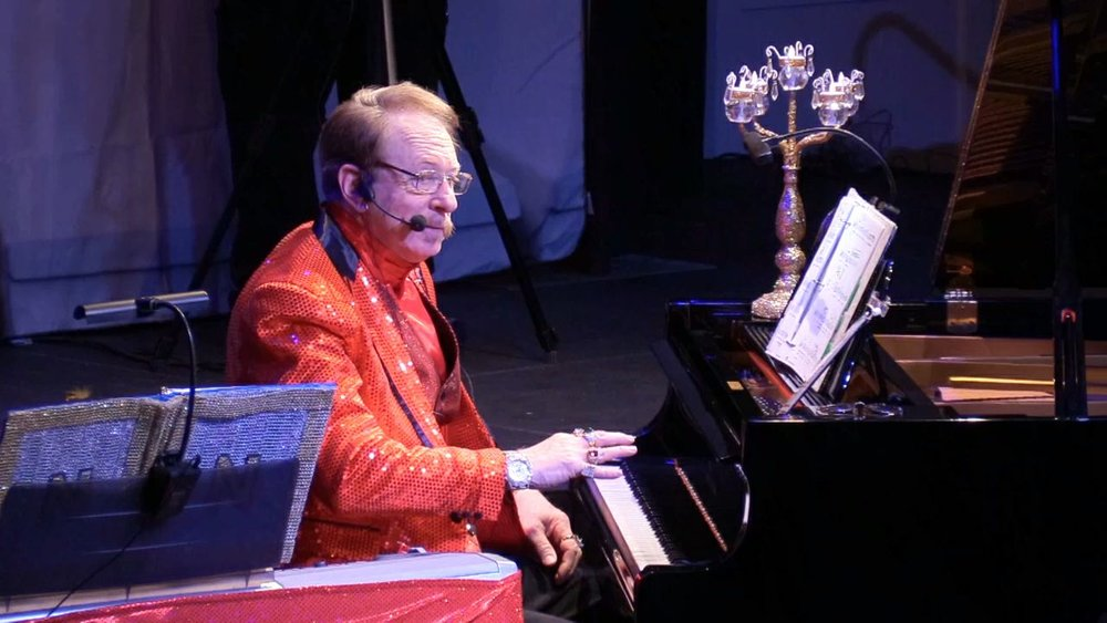 "Norman Speiser performing recently in a ""Liberace Style"" Concert"