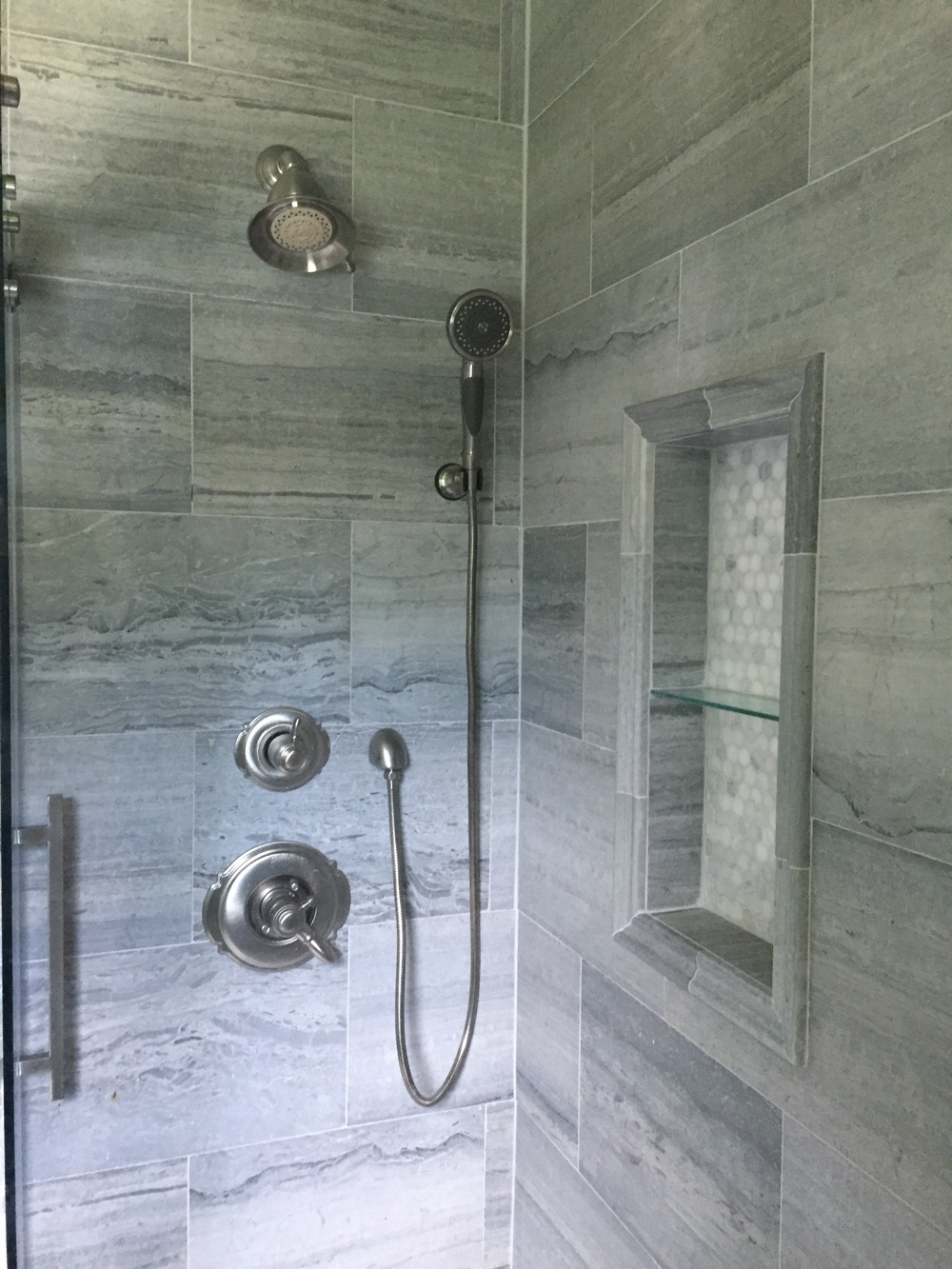 Custom Bathroom Travertine Shower
