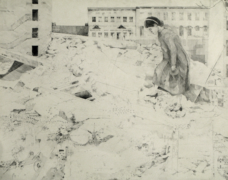 Reflections of Yesterday • Graphite on Paper ∙ 29 x 23in ∙ 2007)