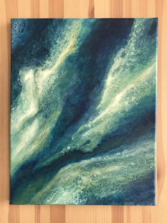 "Untitled • Oil + acrylic on canvas ∙ 14x11"" ∙ 2018"