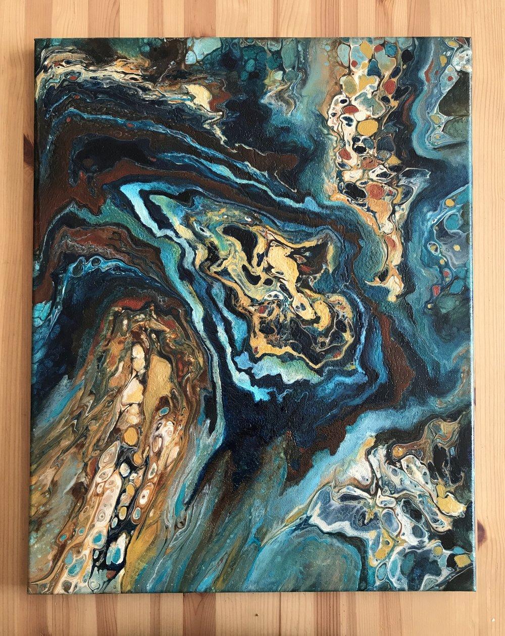 "Untitled • Oil + acrylic on canvas ∙ 20x16"" ∙ 2018"