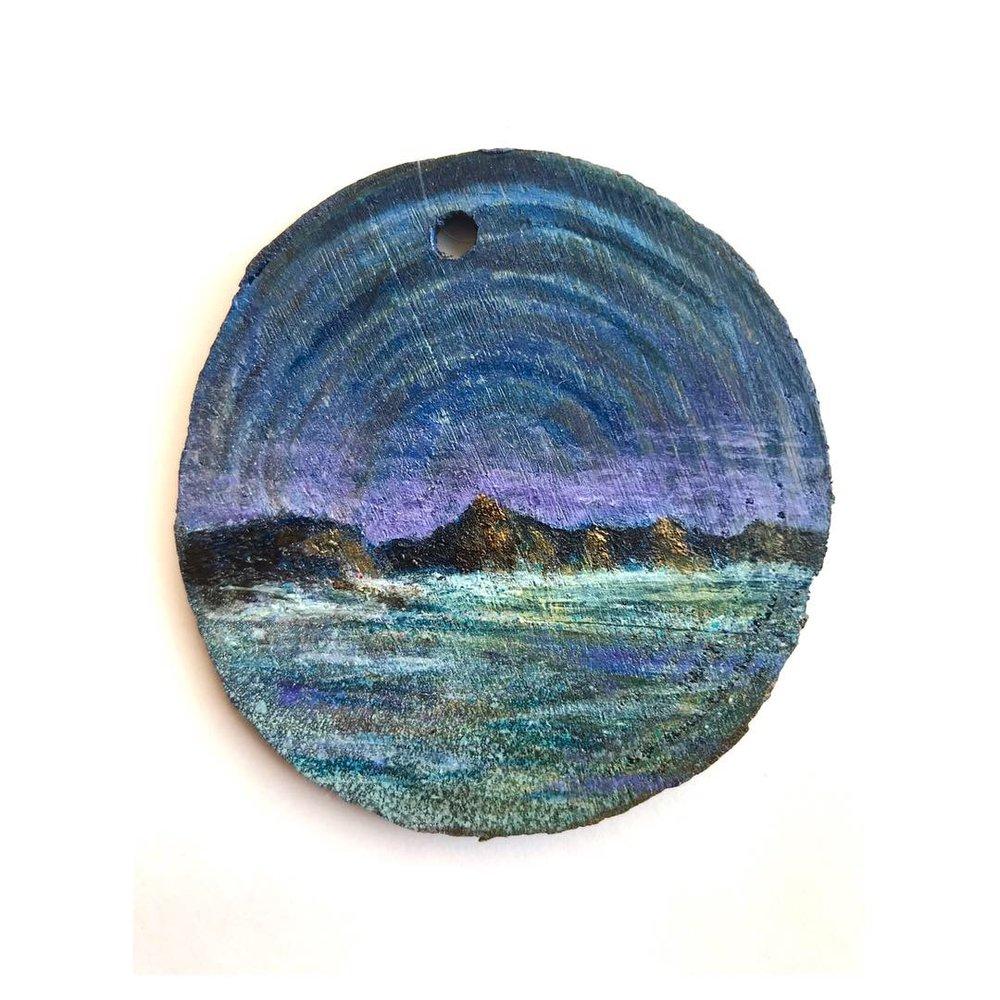 """Untitled • Oil on wood ∙ 2.5 x 2.5"""" ∙ 2018"""