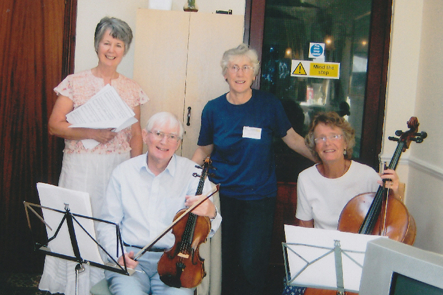 Brookdale House care home residents music