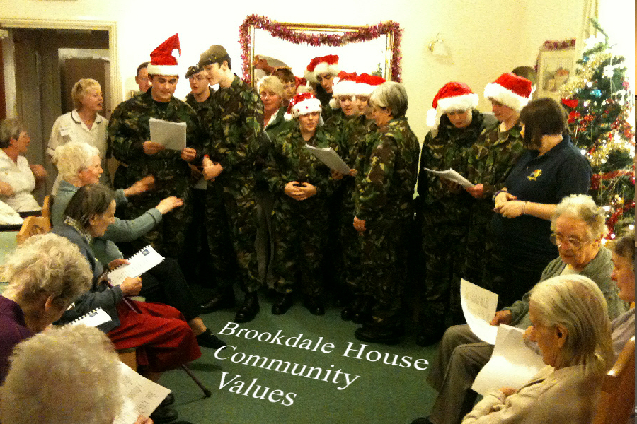 Brookdale House care home residents christmas