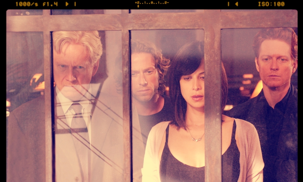 MICHAEL RODGERS ON SET WITH CATHERINE BELL ERIC STOLTZ AND BRUCE DAVIDSON.