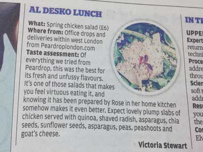 Evening Standard, July 2014