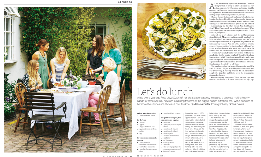 Peardrop in The Saturday Telegraph Magazine, June 2014