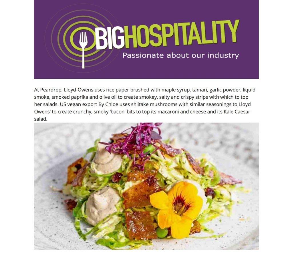 Big Hospitality, August 2018