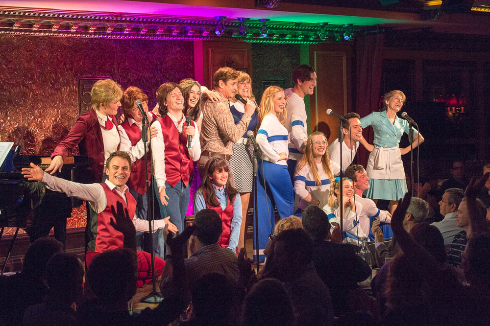 Full cast at 54 Below - photo by Tom Henning