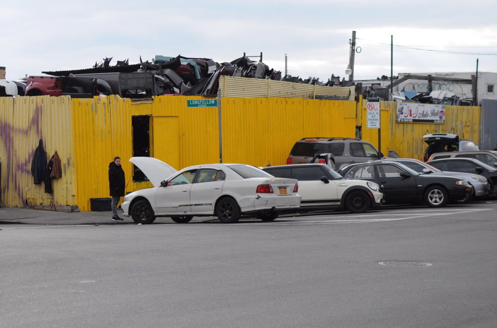 An auto-wrecking business in Hunts Point.