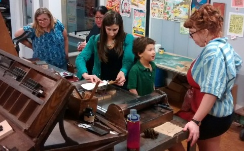 Printmaking activities for all ages!