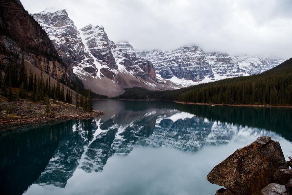 Lake Moraine. Banff, Canada