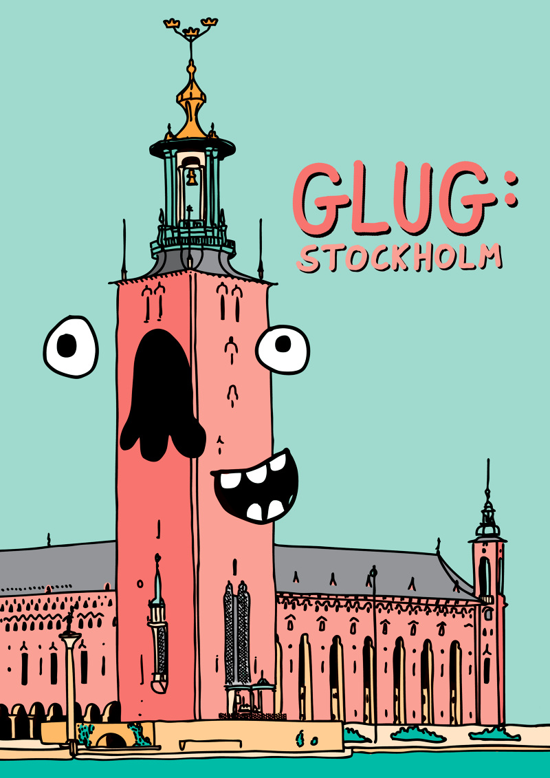 Poster design for Glug Stockholm event in March 2015. Displayed in a poster exhibition at the event.