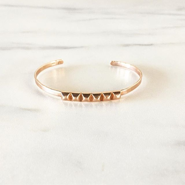 this rose gold cuff is the best to go with your summer tan.  in the shop today or online under *sale*!! #gingerandbaileyshop