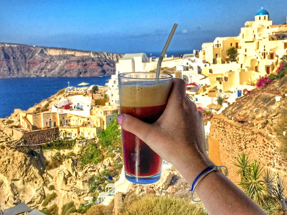 Gotta have a Greek frappe when in Greece