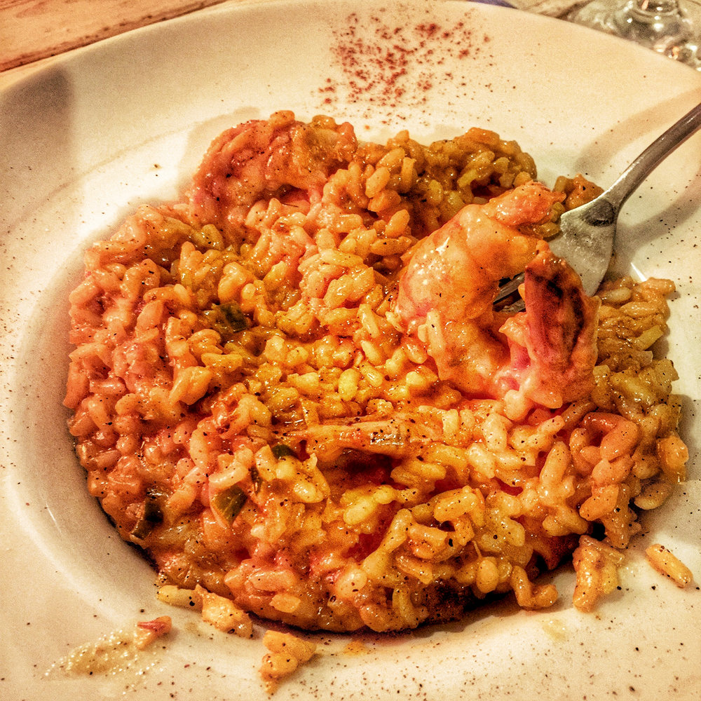 Surprisingly risotto was everywhere in Greece - and this shrimp version did not disappoint.