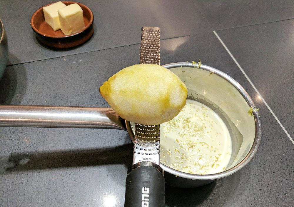 Lemon ganache