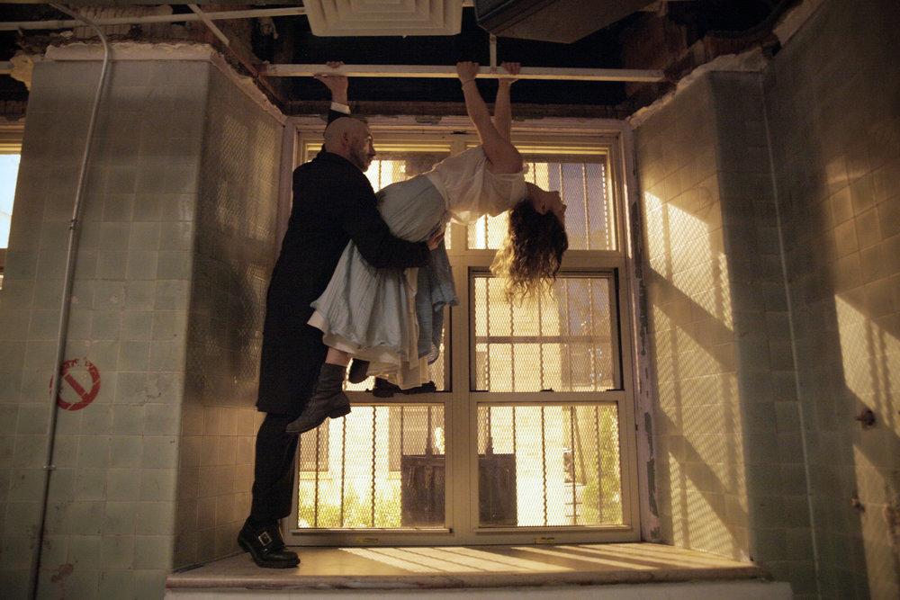 Alberto Denis (Lewis Carroll) Marissa Nielsen-Pincus (Alice) Photograph by Rick Ochoa