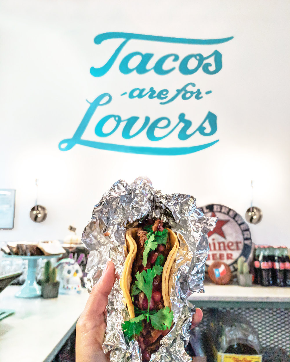 Tacos are for lovers. And to make your love grow even more this location of  Stella Taco offers a daily happy hour  (Monday-Friday) from 3 - 6pm