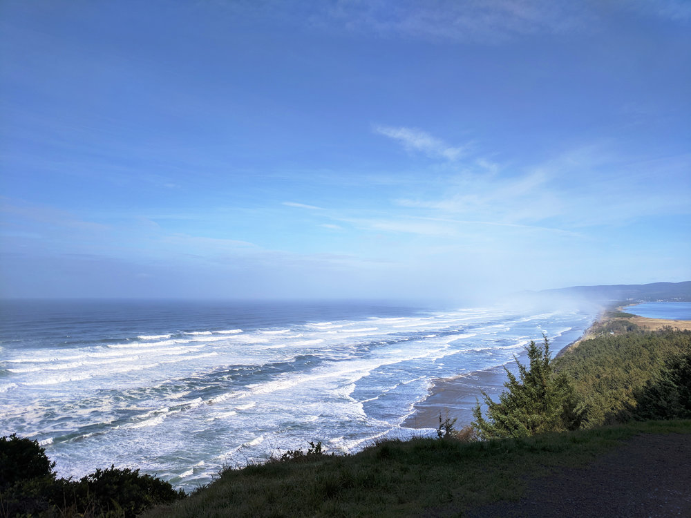 Cape Lookout viewpoint from the highway