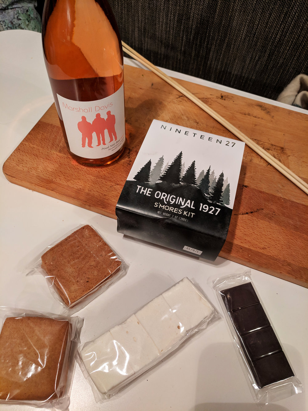 Smores kit and wine.jpg