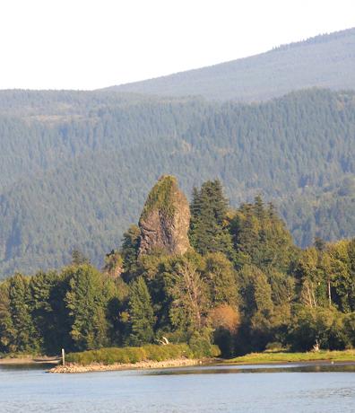 The famous rock  Photo via  Columbia River Images