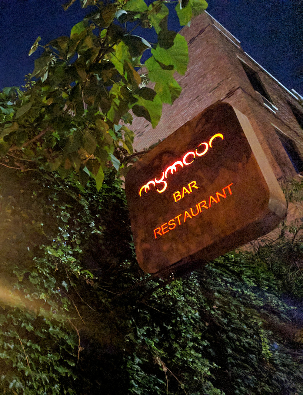 My Moon restaurant sign