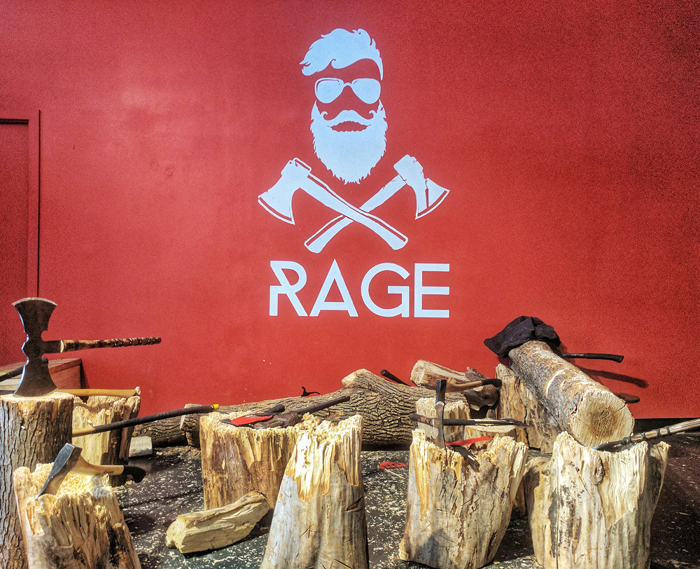 Rage Axe Throwing sign