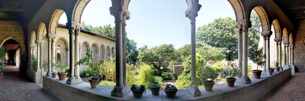 Cloisters garden pano