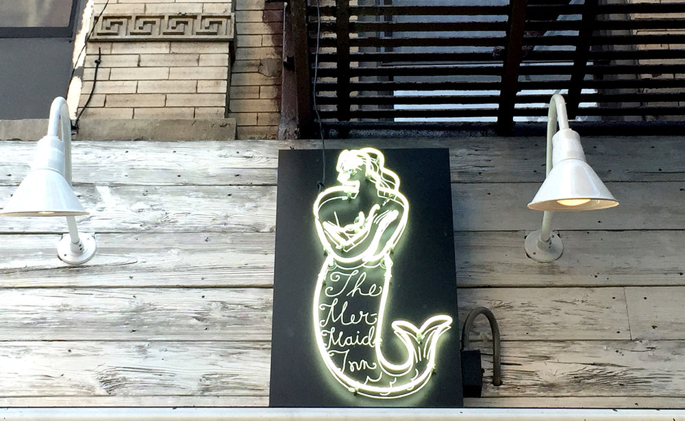 The Mermaid Inn UWS sign