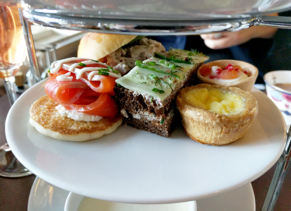 Traditional tea sandwich & tart options