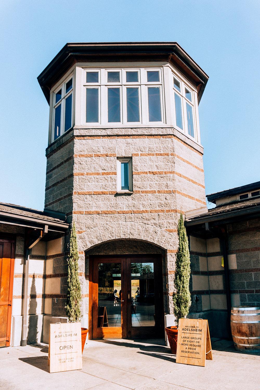 Adelsheim entrance door