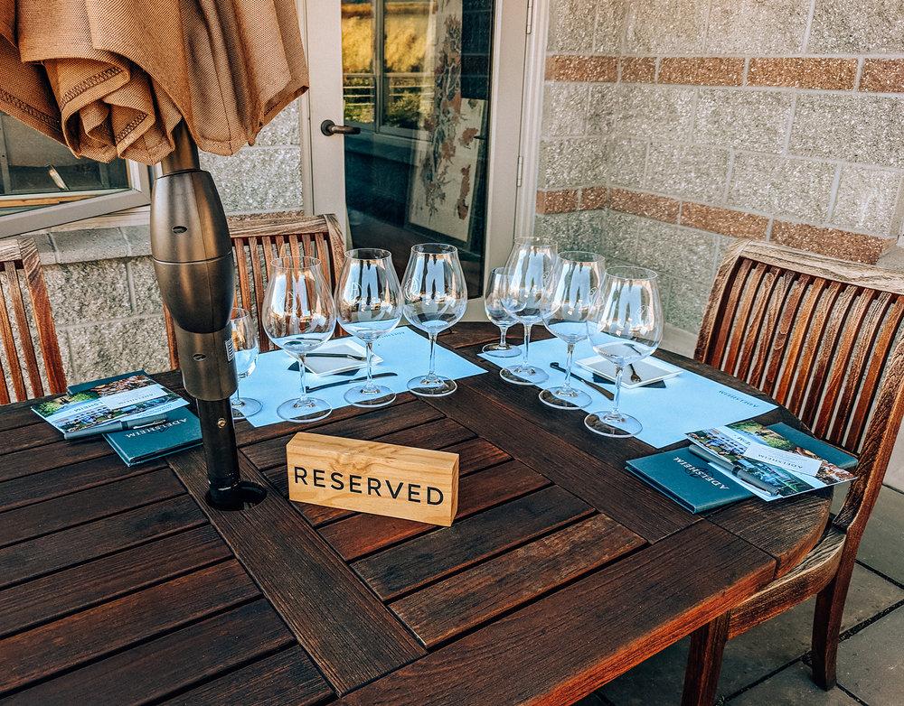Adelsheim tasting table