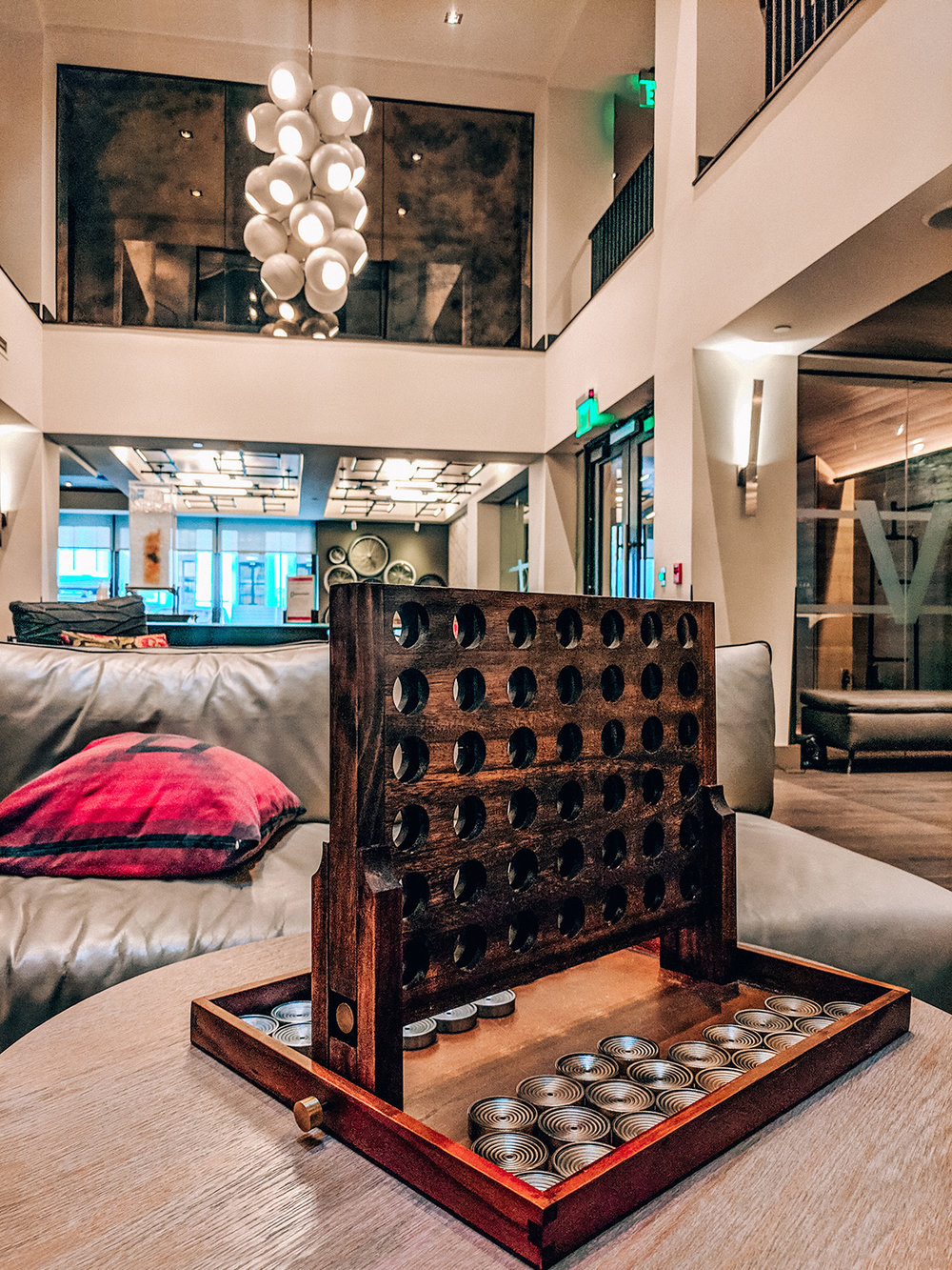 Hotel Vintage Connect Four lobby